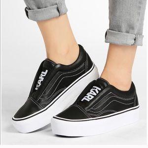 VANS x KARL LAGERFELD Old Skool Sneaker 7.5 M 9 W